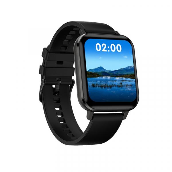 Ceas inteligent (smartwatch) Optimus AT DTX ecran cu touch 1.78 inch color HD, ECG, Sp02, puls, moduri sport, notificari, silicon black [0]