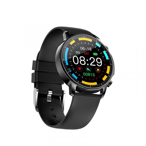 Ceas inteligent (smartwatch) Optimus AT V23 ecran cu touch 1.3 inch color HD, moduri sport, pedometru, puls, notificari, black [1]