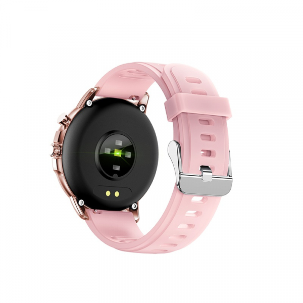 Ceas inteligent (smartwatch) Optimus AT S02 ecran cu touch 1.3 inch color HD, moduri sport, pedometru, puls, notificari, pink [2]