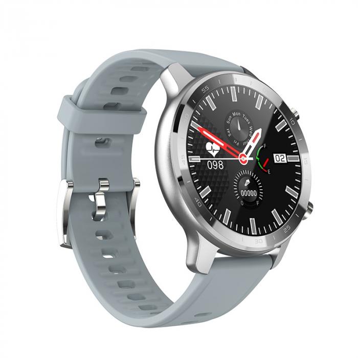 Ceas inteligent (smartwatch) Optimus AT S30 ecran cu touch color HD, moduri sport, pedometru, puls, notificari, argintiu [1]