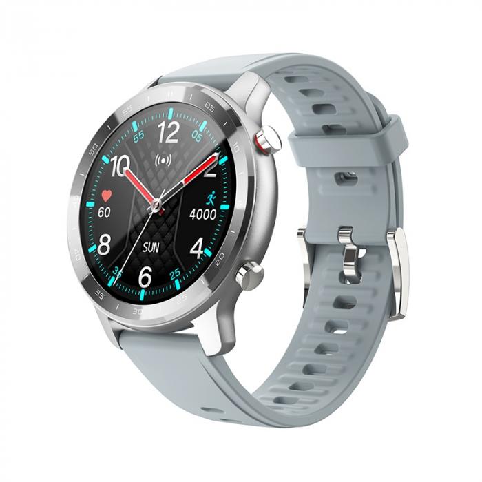 Ceas inteligent (smartwatch) Optimus AT S30 ecran cu touch color HD, moduri sport, pedometru, puls, notificari, argintiu [0]