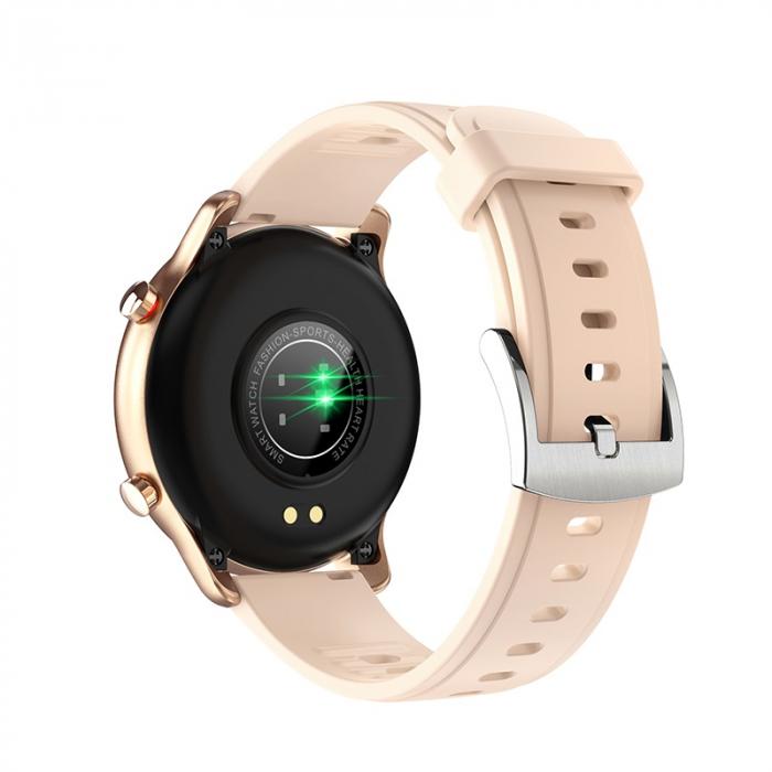 Ceas inteligent (smartwatch) Optimus AT S30 ecran cu touch color HD, moduri sport, pedometru, puls, notificari, auriu [2]