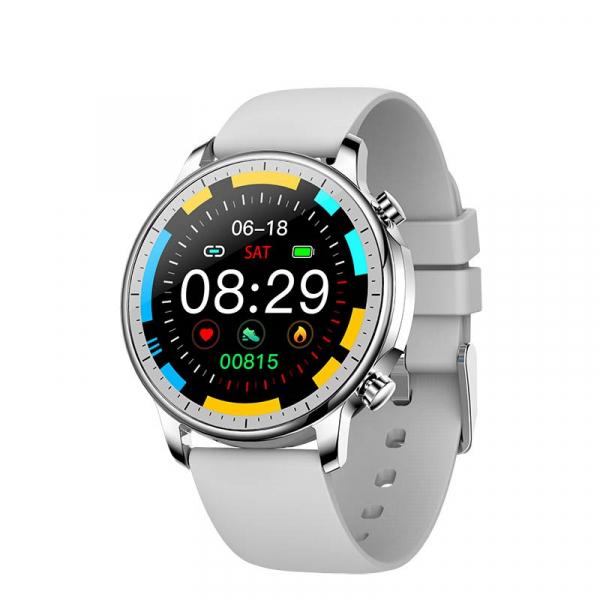 Ceas inteligent (smartwatch) Optimus AT V23 ecran cu touch 1.3 inch color HD, moduri sport, pedometru, puls, notificari, gri [0]