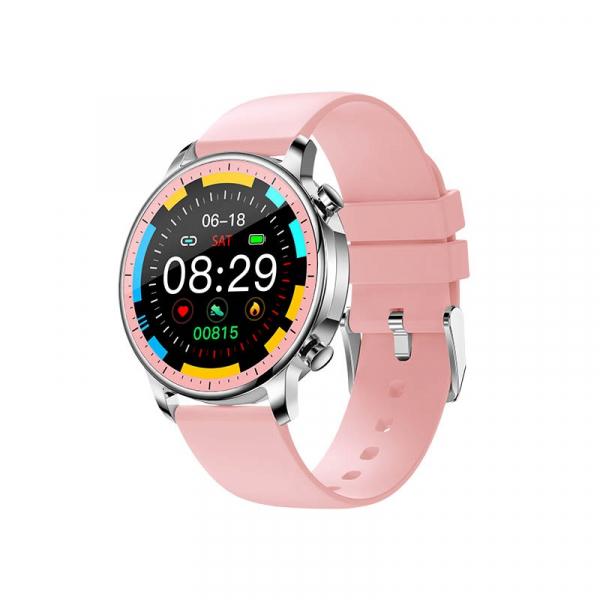Ceas inteligent (smartwatch) Optimus AT V23 ecran cu touch 1.3 inch color HD, moduri sport, pedometru, puls, notificari, roz [0]