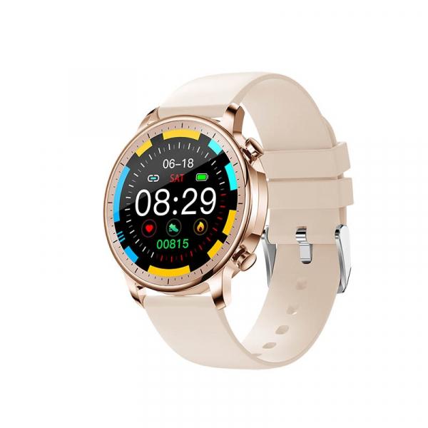 Ceas inteligent (smartwatch) Optimus AT V23 ecran cu touch 1.3 inch color HD, moduri sport, pedometru, puls, notificari, auriu [0]