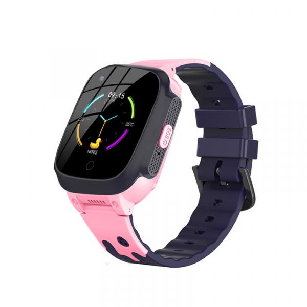 Ceas inteligent (smartwatch) pentru copii Optimus AT 8T cu localizare prin GPS, ecran 1.3 inch, apelare video, camera, buton SOS, pink [0]