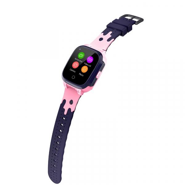 Ceas inteligent (smartwatch) pentru copii Optimus AT 8T cu localizare prin GPS, ecran 1.3 inch, apelare video, camera, buton SOS, pink [1]