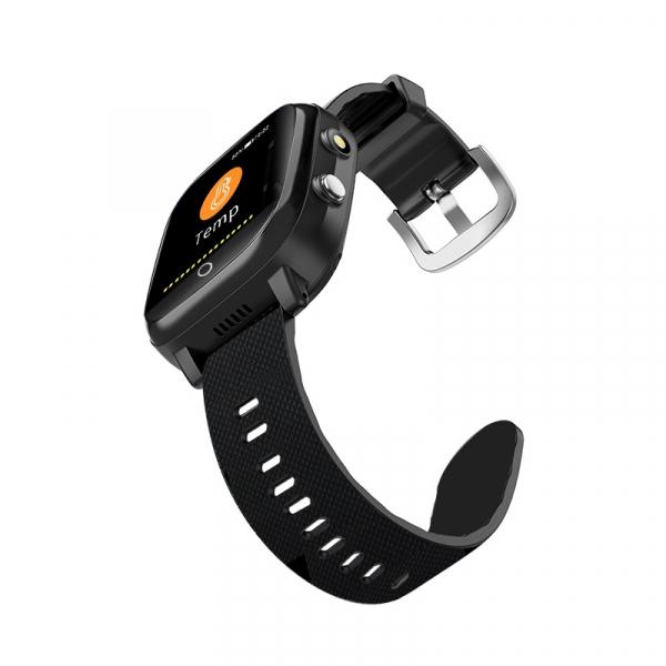 Ceas inteligent pentru adulti 4G cu localizare prin GPS, apelare audio, video, termometru, puls, tensiune, camera, buton SOS, H10 negru [4]