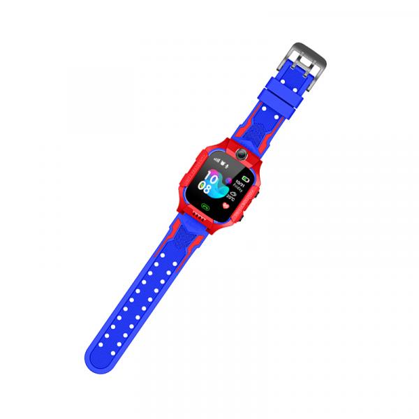 Ceas inteligent (smartwatch) pentru copii Optimus AT GK-01, 3G, GPS, ecran 1.3 inch, apelare audio, camera, buton SOS, perimetru, rosu/albastru [0]