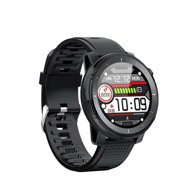 Ceas inteligent (smartwatch) sport Optimus AT L15 ecran cu touch 1.3 inch color HD, Sp02, puls, 10 moduri sport, notificari, black [2]