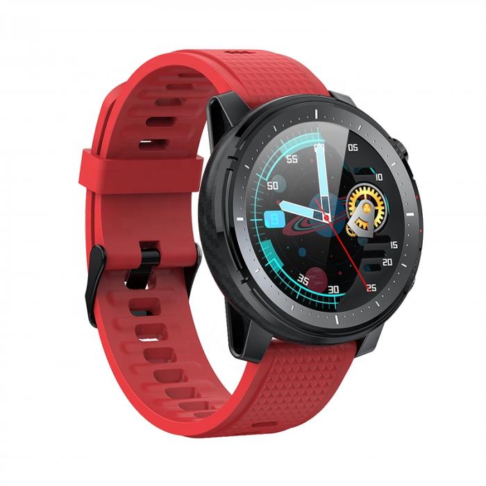 Ceas inteligent (smartwatch) sport Optimus AT L15 ecran cu touch 1.3 inch color HD, Sp02, puls, 10 moduri sport, notificari, red [3]