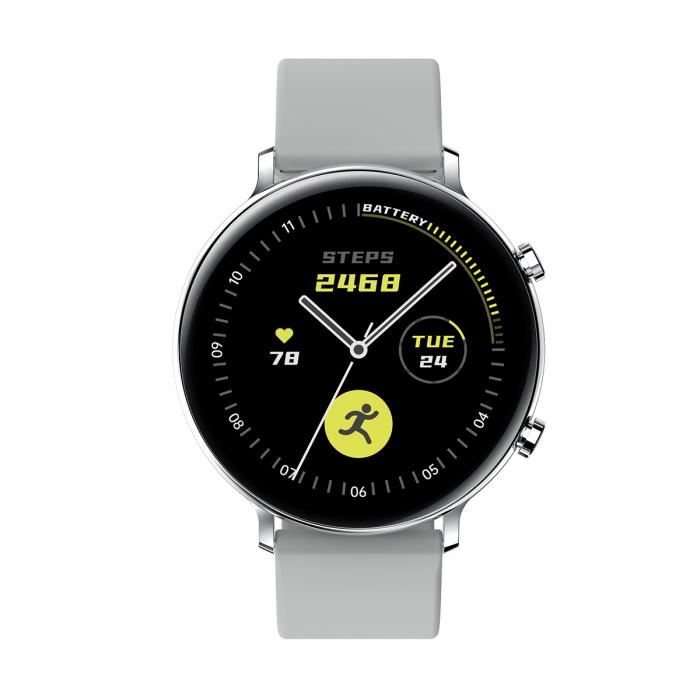 Ceas inteligent (smartwatch) SW07 cu apelare, difuzor si microfon incorporat, IP68, ecran cu touch 1.28 inch color, moduri sport, pedometru, puls, ECG, notificari, gri [1]