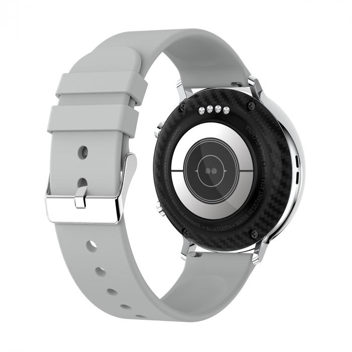 Ceas inteligent (smartwatch) SW07 cu apelare, difuzor si microfon incorporat, IP68, ecran cu touch 1.28 inch color, moduri sport, pedometru, puls, ECG, notificari, gri [4]