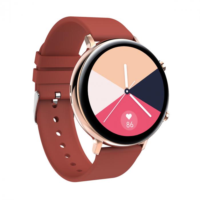 Ceas inteligent (smartwatch) SW07 cu apelare, difuzor si microfon incorporat, IP68, ecran cu touch 1.28 inch color, moduri sport, pedometru, puls, ECG, notificari, rosu [2]