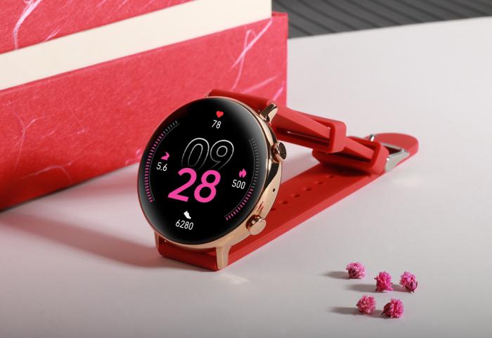 Ceas inteligent (smartwatch) SW07 cu apelare, difuzor si microfon incorporat, IP68, ecran cu touch 1.28 inch color, moduri sport, pedometru, puls, ECG, notificari, rosu [4]
