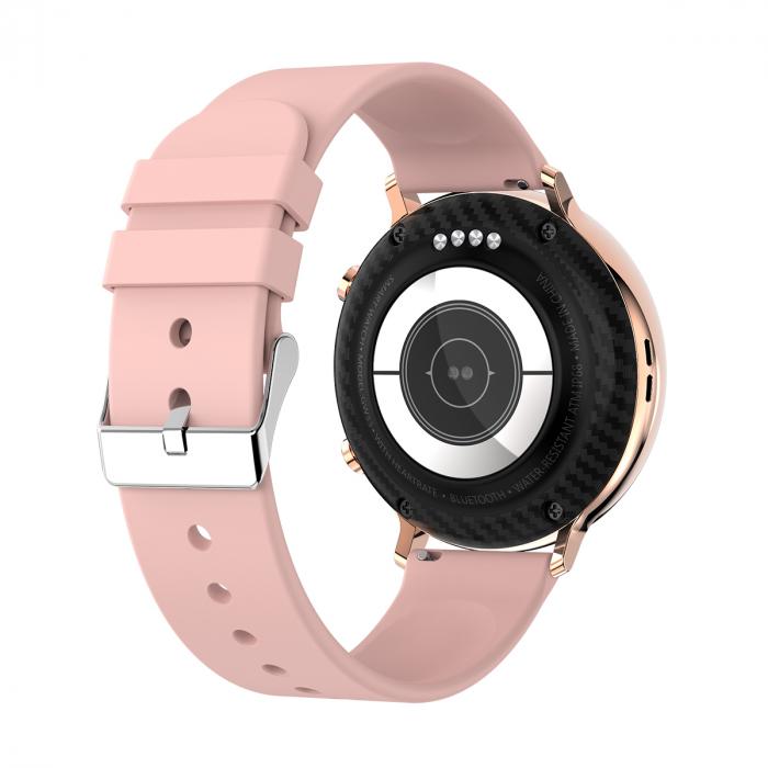 Ceas inteligent (smartwatch) SW07 cu apelare, difuzor si microfon incorporat, IP68, ecran cu touch 1.28 inch color, moduri sport, pedometru, puls, ECG, notificari, auriu [3]