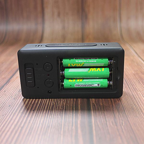 Ceas multifunctional cu design minimalist, model 8039 termometru, alarma, snooze, baterii / priza, negru [2]