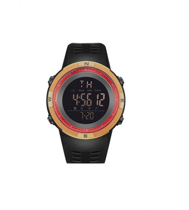 Ceas sport cu alarma SK75, rosu/auriu [0]