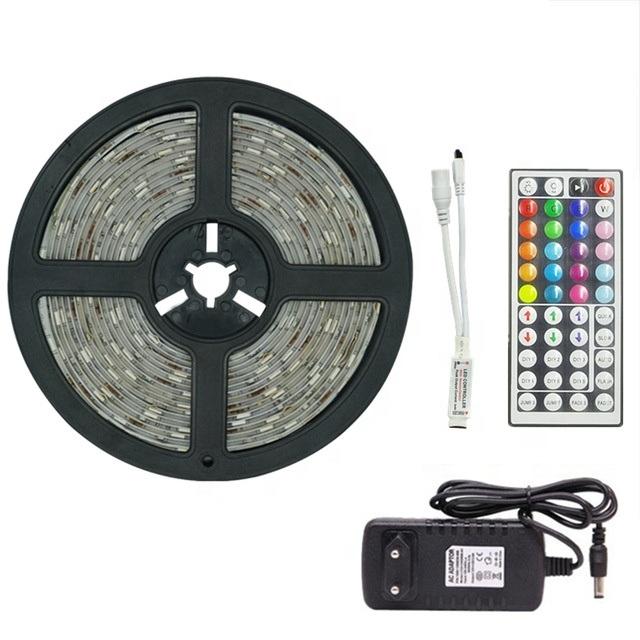 Banda LED RGB 60LED/m cu telecomanda si adaptor, 5m, multicolora [0]