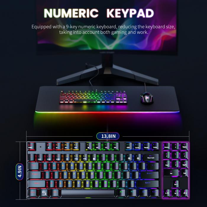 Set gaming profesional tastatura G26 si mouse CW905 Onikuma RGB [3]