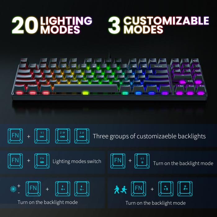 Set gaming profesional tastatura G26 si mouse CW905 Onikuma RGB [1]