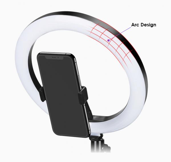 Kit starter vlogging premium pentru birou - suport telefon + lampa circulara fotografica [3]