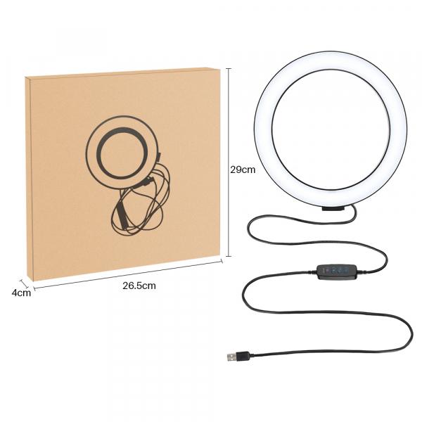 Kit starter vlogging premium pentru birou - suport telefon + lampa circulara fotografica [4]