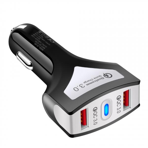 Incarcator auto rapid Optimus AT Qualcomm 3.0 cu cablu de date Type C, negru [1]