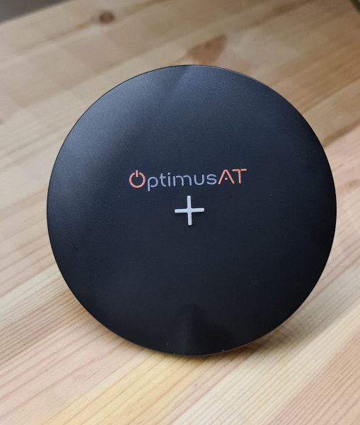 Incarcator rapid ultraslim wireless Optimus AT 61 15W Qi (inductie), type-C, negru [0]