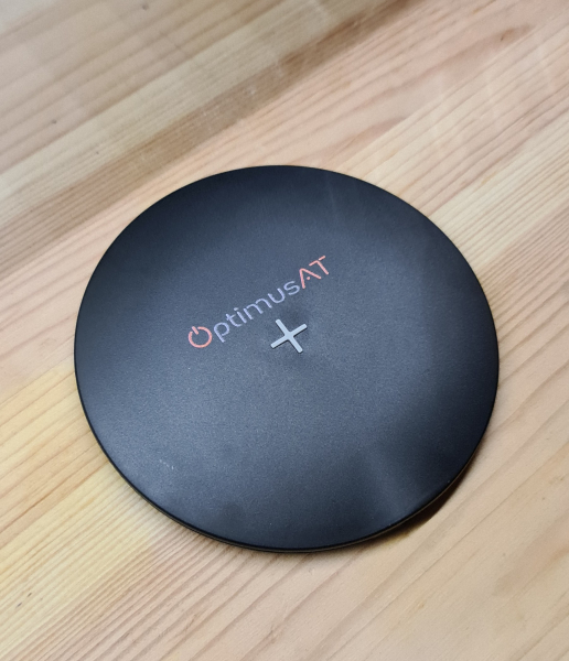 Incarcator rapid ultraslim wireless Optimus AT 61 15W Qi (inductie), type-C, negru [2]