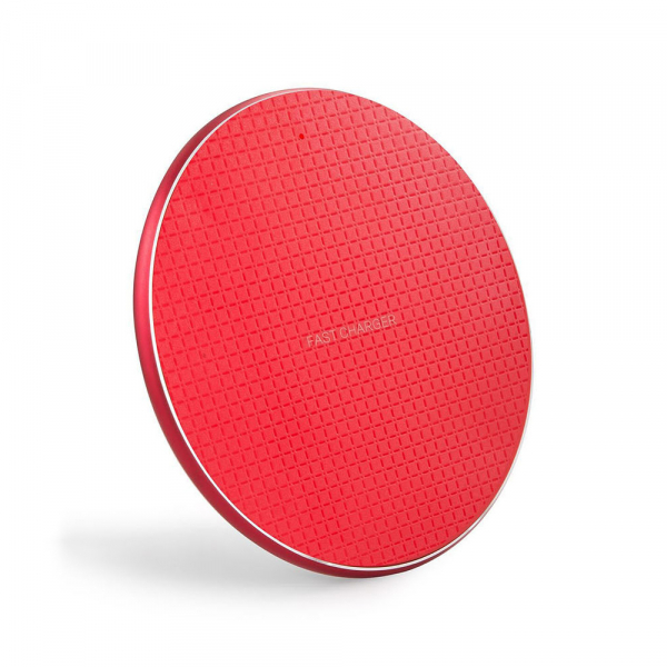 Incarcator rapid ultraslim wireless Optimus AT BC 06 10W Qi, red [0]