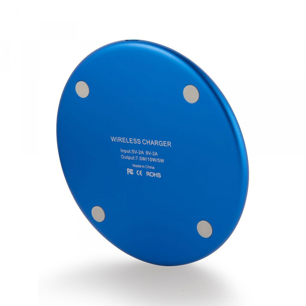 Incarcator rapid ultraslim wireless Optimus AT BC 06 10W Qi, blue [0]