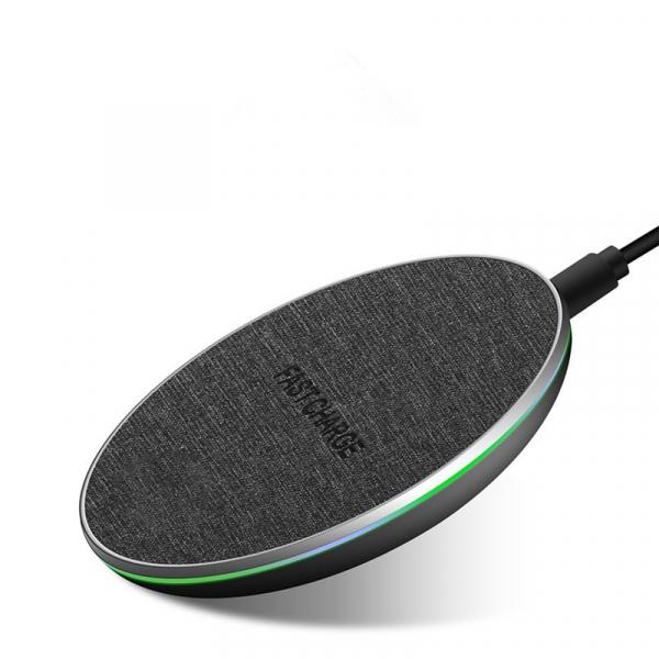 Incarcator rapid ultraslim wireless Optimus AT BC09 10W Qi (inductie),  black jeans [0]