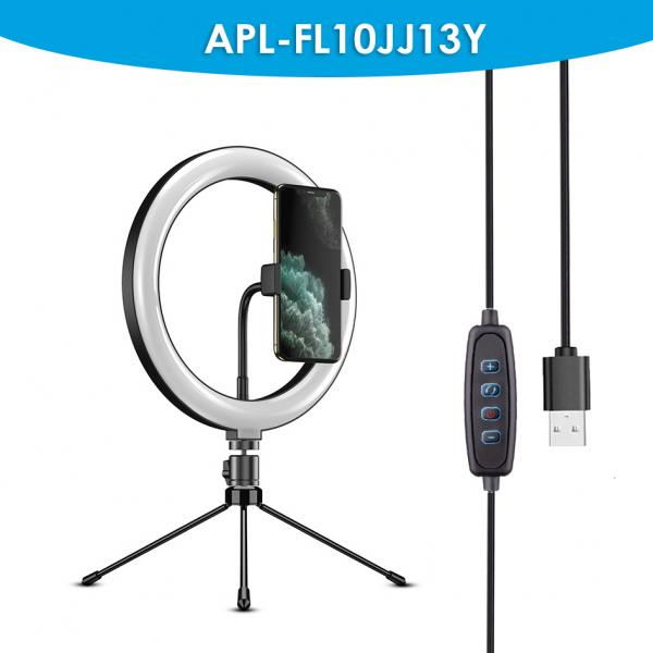 Kit starter vlogging premium pentru birou - suport telefon + lampa circulara fotografica, JJ13Y [4]