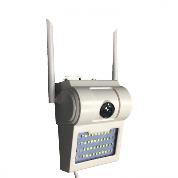 Lampa de perete cu camera de supraveghere IP WIFI Optimus AT D2-R fullHD 1920*1080P 2 mp, night vision, aplicatie telefon, alb [6]