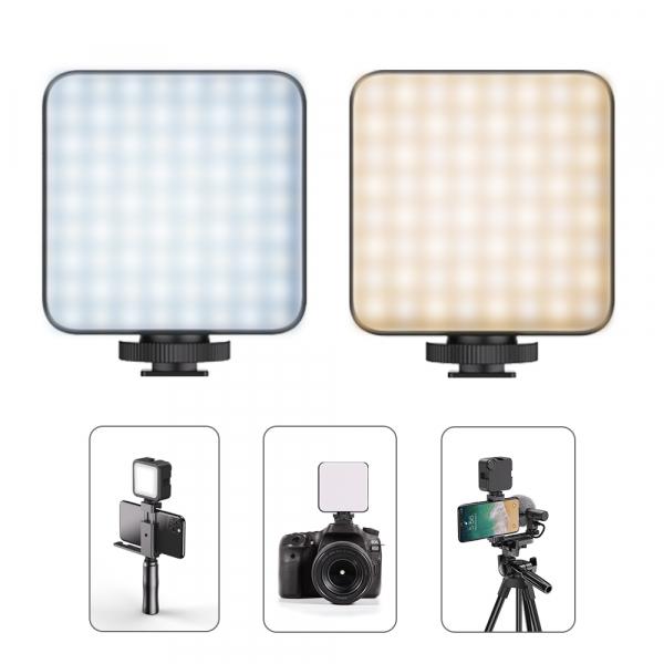 Lampa LED cu acumulator 2000 mAh, lumina calda/rece 2500-6500K, FL03 [1]
