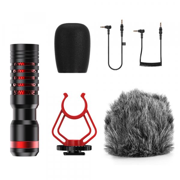 Microfon profesional, ultraportabil, directional, cu atenuator zgomotor de fundal, prindere tip 1/4 [1]
