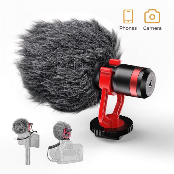 Microfon profesional, ultraportabil, directional, cu atenuator zgomotor de fundal, prindere tip 1/4 [0]