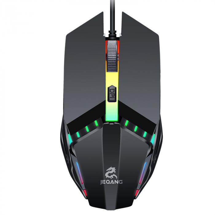 Mouse Gaming  JM-530, 2 butoane, RGB , DPI ajustabil pana la 800/1200/1600 - negru [2]