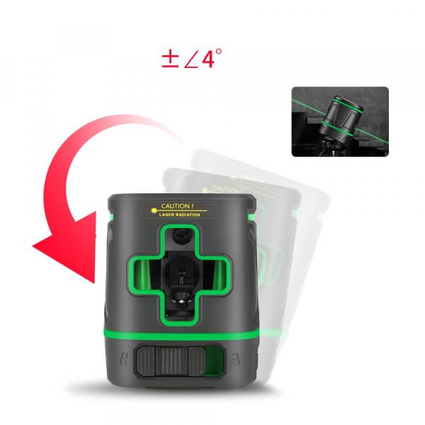 Nivela laser profesionala dioda verde cu 2 linii in cruce si acumulator SNDWAY 331 - 10 m, ± 0.3 mm/m precizie, 510-530 nm, IP 54, ± 4° domeniu de autonivelare [3]