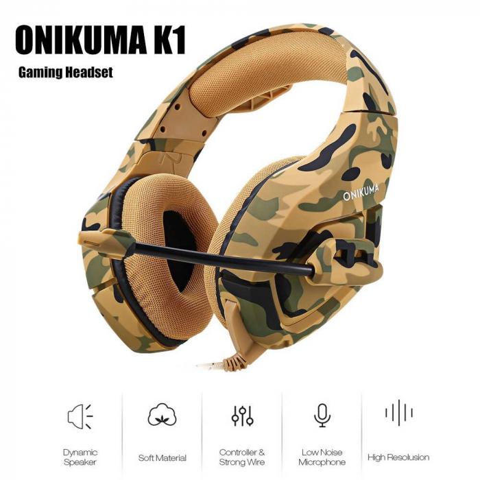 Casti Gaming DC-Onikuma K1, Microfon Noise Cancelling, Zero Ear Pressure, Multi Platform [3]