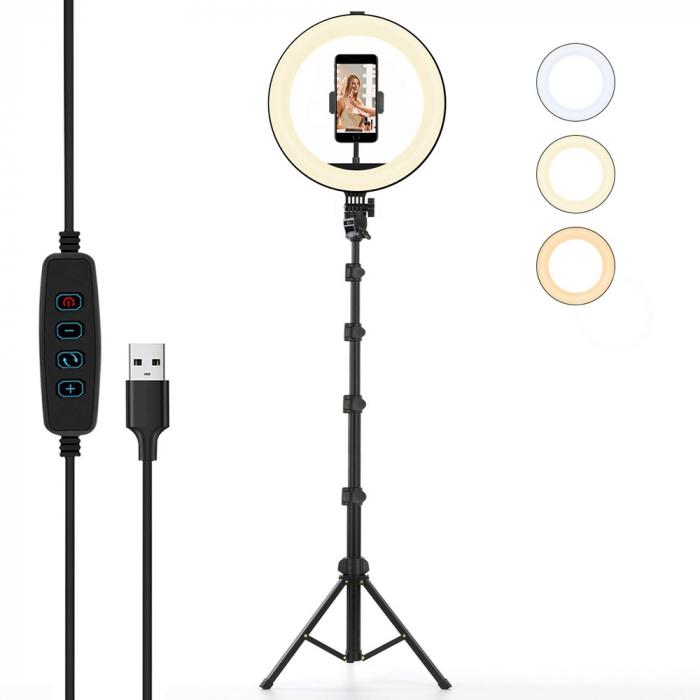 Set selfie ring 10 inch, trepied telescopic 160cm, suport telefon [6]
