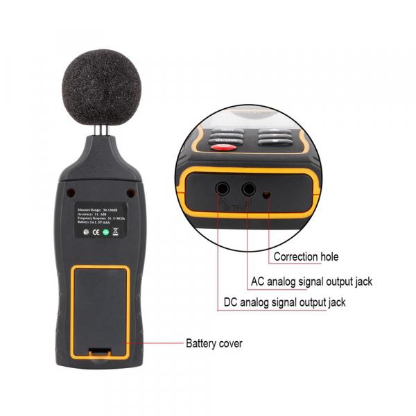 Sonometru profesional SNDWAY 523 plus aparat de masurare a decibelilor decibelmetru [3]