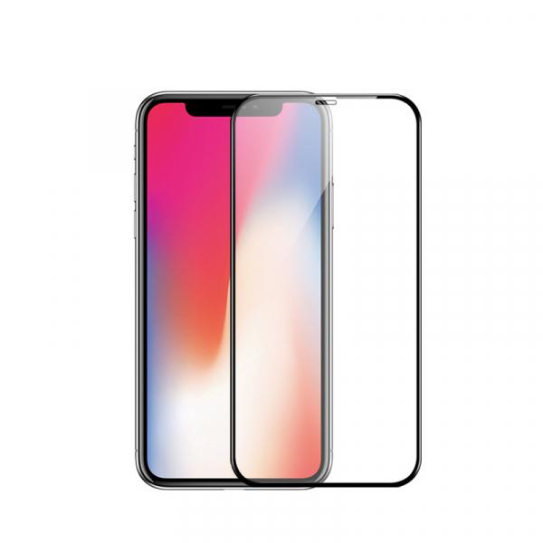 Folie protectie ecran 5D de sticla duritate 9H, antiamprenta pentru Iphone XR [1]