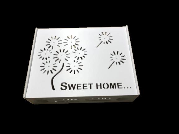 Suport Router Wireless Home 36x28x9 cm, alb, pentru mascare fire si echipament WI-FI, posibilitate montare pe perete [2]