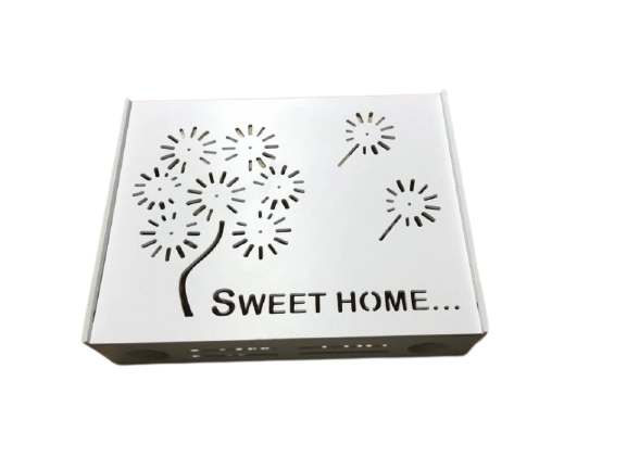 Suport Router Wireless Home 60x40x10 cm, alb, pentru mascare fire si echipament WI-FI, posibilitate montare pe perete [2]