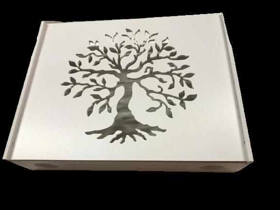 Suport Router Wireless Tree 60x40x10 cm, alb, pentru mascare fire si echipament Wi-Fi, cu posibilitate montare pe perete Optimus AT Home [2]