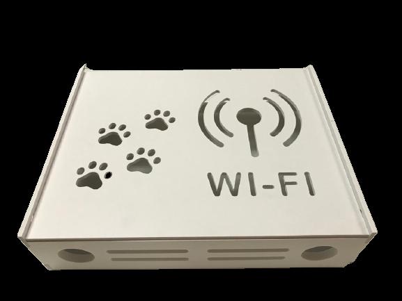 Suport Router Wireless Cat 60x40x10 cm, alb, pentru mascare fire si echipament Wi-Fi, cu posibilitate montare pe perete Optimus AT Home [2]