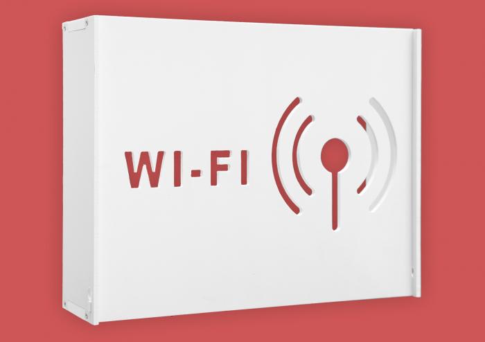 Suport Router Wireless WIFI 36x28x9 cm, alb, pentru mascare fire si echipament Wi-Fi, cu posibilitate montare pe perete Optimus AT Home [0]