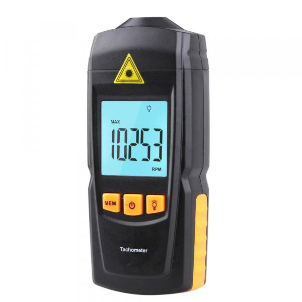 Tahometru digital fara contact Optimus AT 8900, masurare viteza rotatie pe minut RPM, negru [1]